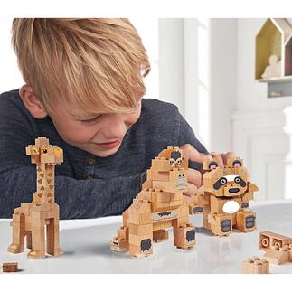 Bausteine aus Massivholz Für Panda, Giraffe, Gorilla oder freies Bauen: die Baustein-Sets aus Buchenholz. Nachhaltiger Spielspaß.