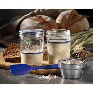 Kilner® Sauerteig-Bereiter Food-Trend Sauerteig: Einfach selbst angesetzt und perfekt gegoren. Von Kilner®, England – Spezialist für Glasprodukte seit 1842.