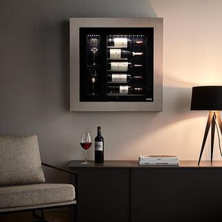 Weinvitrine mit Kühlung Der würdige Platz für Ihre besten Weine. Eyecatcher in jedem Ambiente.