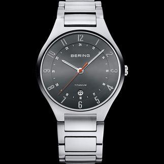 Bering Titanium-Armbanduhr 42 % leichter als Edelstahl und deutlich kratzfester. Die klassisch-sportive Titanium-Uhr von Bering/Dänemark.