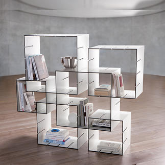 Konnex Steckregal-Set, 3-teilig Kein Dübeln, kein Schrauben. Einfach zusammenstecken, Schaffen Sie im Nu Ihr individuelles Regal.