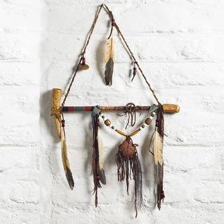 Navajo Friedenspfeife Aus den traditionellen Naturmaterialien von Navajos handgefertigt. Jede ein Unikat. Mit Echtheits-Zertifikat.