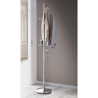 Garderobe Acht Haken halten Platz sparend Mäntel, Jacken und mehr. Aus stabilem, rostfreiem Edelstahl.