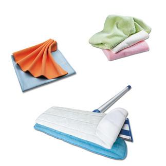 Mikro-Aktivfaser-Putztücher Nehmen Schmutz deutlich besser auf als andere Reinigungstücher - ohne Chemie. Auch als Boden-Reiniger erhältlich.