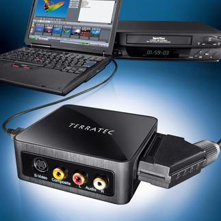 Video-Konverter TerraTec G3 inkl. Bearbeitungssoftware Der Video-Konverter digitalisiert analoge Videos. Mit Restaurations-Software.