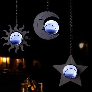 Himmlische Solarleuchten, 3er-Set Stimmungsvolle Lichtakzente und zauberhafte Dekoration zugleich. Kein Stromanschluss. Kein Kabel.