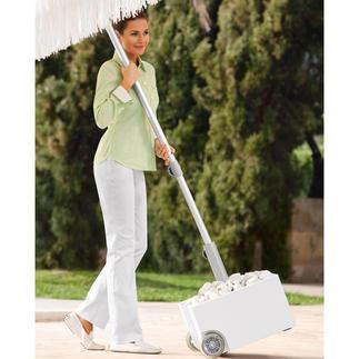 Rollbarer Schirmständer zum Bepflanzen Jetzt wird Ihr Schirmständer zum Blumenbeet. Oder Steingärtchen, Dekoobjekt, … Wetterfest und rollbar.