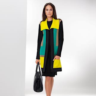 Who's Who Geometrie-Strickmantel Geometrische Formen + starke Farben: High Fashion Strick aus Italien. Von Who's Who.