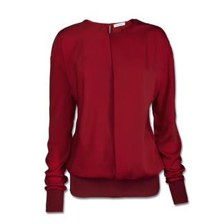 Costume National Sweater-Bluse Clean-Chic im Sporty-Style: Die geniale Kombi aus Bluse und Sweatshirt.