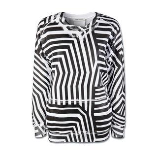 Pierre Balmain Sweatshirt So viele Fashion-Facts in einem Trend-Teil: Kastig. Oversized. Grafik-Dessin. Schwarz-Weiß.