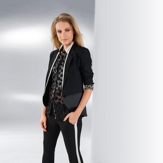 CostumeNemutso Anzug-Jackett Ein Jackett neuester Generation: Sportive Lässigkeit, gepaart mit der Eleganz einer Smoking-Jacke.