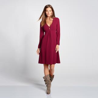 Twin-Set Jersey-Swing-Kleid oder Feder-Fellweste Trend-Paarung: Feminin trifft rustikal. Am besten von den Erfindern des Looks: Twin-Set.