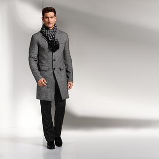 Lagerfeld Fischgrat-Mantel Lagerfeld schafft den Spagat zwischen lässiger Mantel-Mode und modischem Business-Chic.