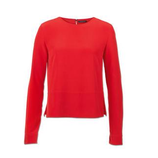 "Strenesse Seiden-Shirt-Bluse, Rot Sportiver Schnitt. Elegantes Material. Strenesse hat die perfekte Bluse zum Thema ""Sporty-Elegance""."