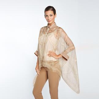 Versace Collection Poncho-Bluse Selten zu finden: Kombination aus trendigem Poncho und luftiger Business-Bluse.