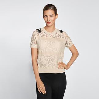 Twin-Set Sports-Couture-Pulli Sportiv und bequem wie ein Sweatshirt. Aber dennoch elegant wie eine Bluse.