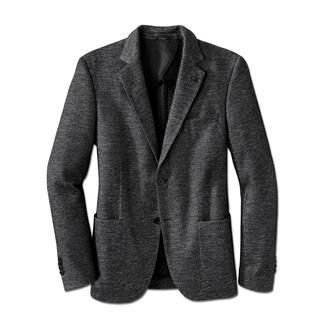 Das bequeme Jersey-Sakko von Lagerfeld. Salt & Pepper-Dessin plus Woll-Qualität.