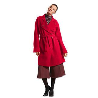 Pinko Doubleface-Mantel Mode-Must-Have roter Wollmantel: Bei Pinko besonders gelungen.