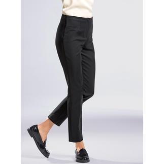 Les Copains Baumwoll-Stretchhose, Schwarz Aktuelle, schmale Form in verkürzter Länge – ideal für unzählige Trend-Styles. Von Les Copains.