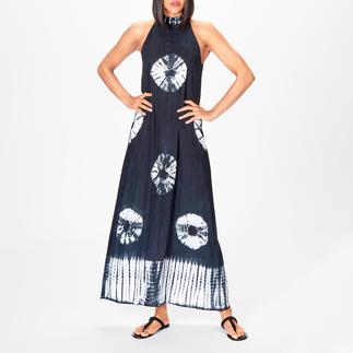 Salty Skin Batik-Maxikleid Unter den angesagten Batik-Kleidern eines der edelsten: Reduziertes schwarz-weißes Dessin. Auf Bali handgefertigt.