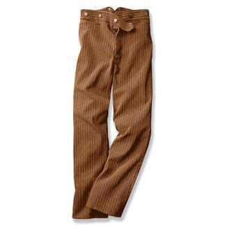 Tragen Sie die Ur-Jeans, die Geschichte schrieb. Die legendäre Goldgräber-Jeans. Entdeckt im Kalifornien der Vergangenheit. Diese Ur-Jeans waren nicht blau - sondern in unempfindlichem Braun.