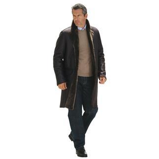 1.450 g Lammfell-Mantel wärmen besser als 2 kg Leder-Jacke. Seidenweiches Merino-Lammfell aus Spanien.