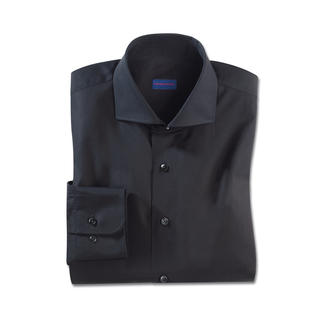 Das Constant-Colour-Hemd von Claude Dufour. Bleibt auch nach vielen Wäschen schwarz. Exzellente Vollzwirn-Qualität aus reiner Baumwolle.