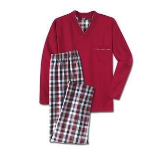 Der Lieblings-Pyjama zum kleinen Preis. Made in Germany von einem leistungsfähigen Spezialisten aus Sachsen. Aus reiner Baumwolle in Lang-Version für die kühlere Jahreszeit.