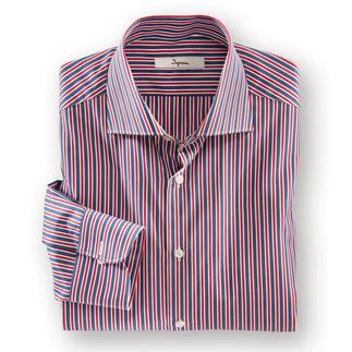Das maritime Streifenhemd - lässig genug für die Freizeit, fein genug fürs Business. Die wichtigen maritimen Farben in einem Hemd.