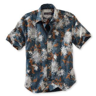 Das Original Hawaii-Hemd von Reyn Spooner. Mit dezentem Chrysanthmen-Muster. Hergestellt auf Hawaii. In Europa exklusiv bei Fashion Classics.