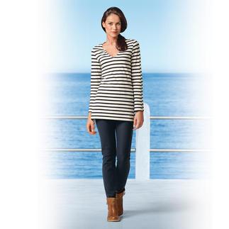 Die Jeggings: sieht aus wie eine knackige Jeans, dabei bequem wie eine Leggings. Kein Knopf, kein Reißverschluss - so zeichnet sich nichts unter engen Oberteilen ab.