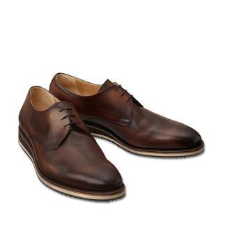 Der zeitgemäße Derby mit Sneaker-Sohle: Korrekt wie ein Business-Schuh. Aber bequemer und moderner. Traditionell rahmengenäht nach dem Goodyear-Verfahren. Von Cordwainer/Spanien.