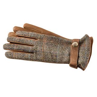 Der Luxus-Handschuh aus original Harris Tweed und seltenem Hirschleder. Viel softer, leichter und doch reißfester als Rindleder. Traumhaft weich gefüttert mit feinstem Kaschmir.