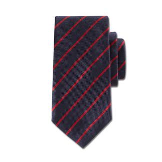 """Die Seidenkrawatte mit klassisch britischen """"Regimental Stripes"""" - das Krawattendessin echter Gentlemen. Italienische Seide aus Como. Jetzt zeitgemäß schmale 7,5 cm breit. Bei Ascot in Krefeld handgenäht."""