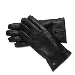 """Die eleganten Lederhandschuhe mit """"Nappa-Touch""""-Ausrüstung sind perfekt fürs Smartphone, Tablet... Praktischer Nebeneffekt: Regen perlt an den Handschuhen einfach ab. Kaschmirfutter wärmt angenehm."""