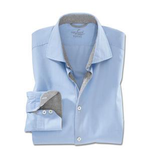 Das perfekte Karohemd für Business und Freizeit. Von van Laack. Dezentes Minikaro. Sportive Jersey-Belege. Mit wenigen Handgriffen wird es zum Freizeithemd.