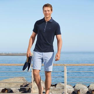 Das flauschig weiche Polo-Shirt aus Frottee. Von van Laack, Hemdenspezialist seit 1881. Genau richtig für die nächste Seereise, den Strandurlaub, Stadtbummel an heißen Tagen,…