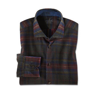 van Laack Coated Karo Hemd, Slim Fit Klassisches Karo, behutsam modernisiert von van Laack.