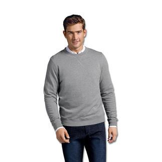 """Das Sweatshirt, das noch klassisch als """"Loopback"""" gewirkt ist. Von Sunspel, England. Tradition seit 1936."""