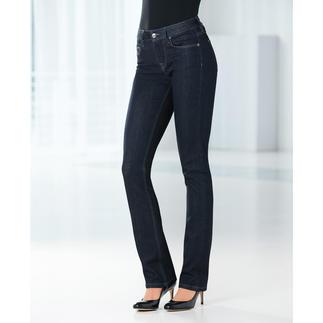 Die Business-Jeans: Aktueller Raw-Denim-Look. Cleaner Schnitt. Perfekte Passform. Herrlich weich und elastisch. Von Strenesse.