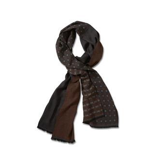 Der Doubleface-Schal mit Muster-Mix: außergewöhnlich dezent, stilvoll und vielseitig kombinierbar. Fein, leicht und nicht zu voluminös.