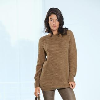 Der Pullover aus 100 % Kamelhaar - eine luxuriöse Rarität. Gesponnen in England. Gestrickt in Europa. Und doch nur 169,- Euro.
