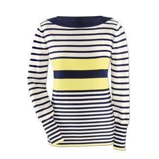 Der maritime Ringelpulli ist jetzt attraktiver denn je. Aus feinster ägyptischer Baumwolle. Neue Streifen, der frische Farb-Kick und die figurbetonte Form geben dem Traditions-Dessin neue Spannung.