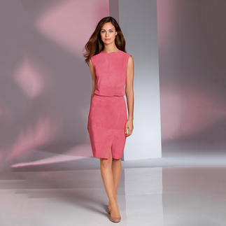 Die außergewöhnliche Kombination aus weichem Ziegenvelours. Zu einem sehr erfreulichen Preis. Luxuriöses Leder. Feminine Form. Modefarbe Erdbeereis.