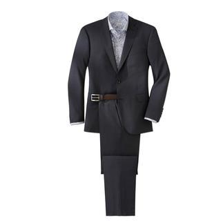 Der Traveller-Anzug aus edlem italienischen Cerruti-Tuch. Design von Carl Gross. Superleicht. Nahezu knitterfrei. Und doch 100 % Schurwolle.