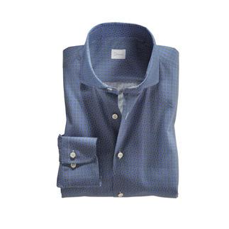 Das zeitgemäß dezente Grafikhemd: wenn Retro-Look, dann stilvoll. Modisch. Elegant. Und sogar Anzug-kompatibel. Von Hemdenspezialist Dorani.