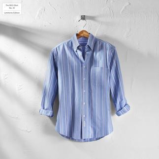 Das gestreifte BDO-Shirt No. 39 - aus luftig feinem Oxfordgewebe. Limitierte Edition. Bequem großzügig gefertigt - nichts engt Sie ein.
