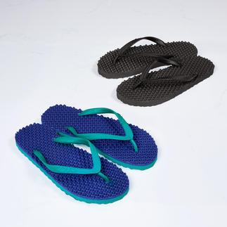 Die Kult-Sandale der australischen Surfer-Szene: original Massage-Thongs von Souls. Stylish. Bequem. Und mit integriertem Wellness-Effekt.