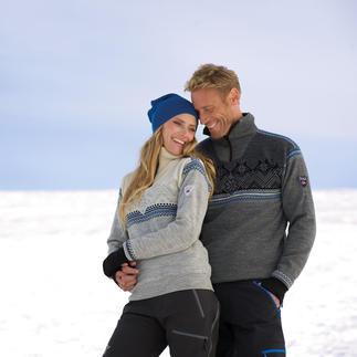 Die original Norweger-Pullover für Damen und Herren. Von Dale of Norway, seit 1879. Entwickelt für die Expedition zum Südpol: Wasser abweisend. Winddicht. Atmungsaktiv.