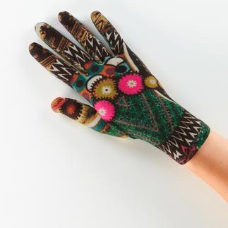 Die Fleece-Handschuhe von Ixli, Frankreich. Fröhlich bunt statt langweilig uni.